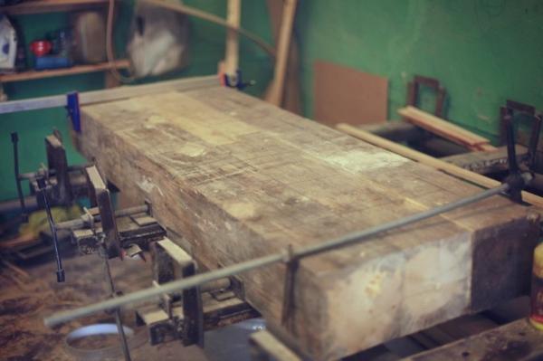 Mosaik Holzspüle holz platte