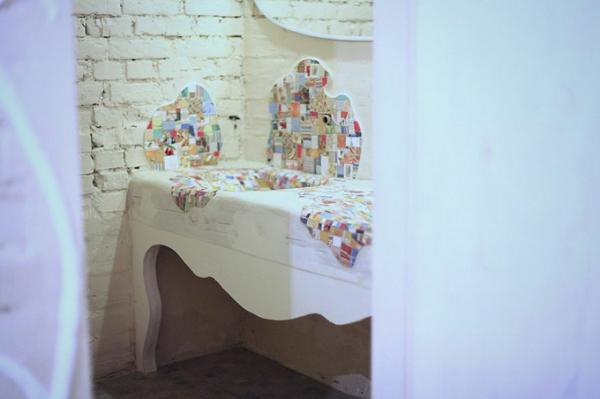 Mosaik Holzspüle küche badezimmer