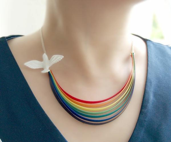 Originelle Geschenkideen für Freundin halskette  regenbogen
