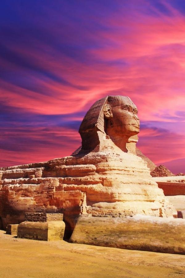 Reise familie fahren Ägypten urlaub Sphinx