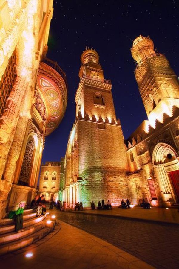 Reise Ägypten urlaub lichter nacht verkehr straße
