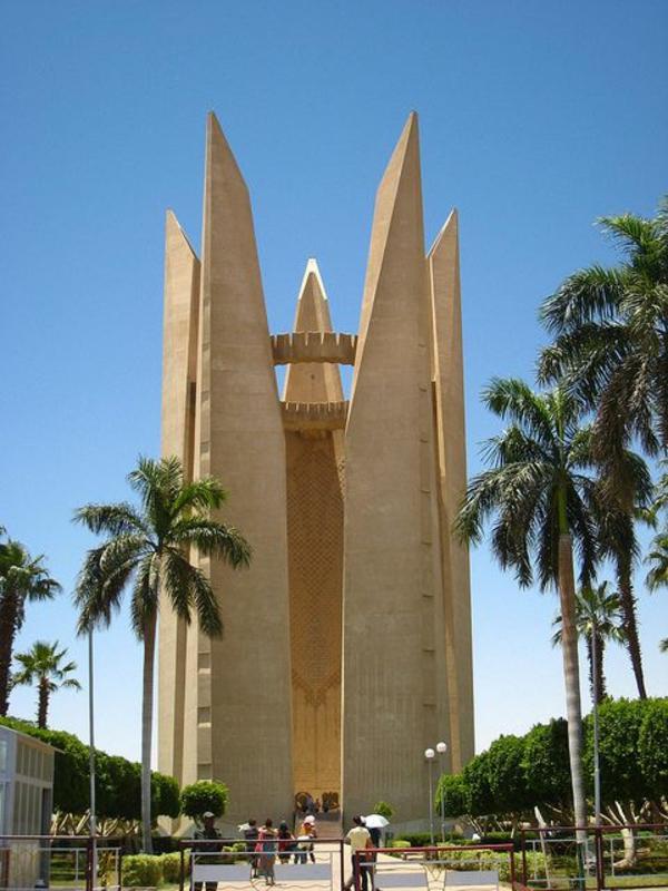 Reise gebäude Ägypten urlaub palmen