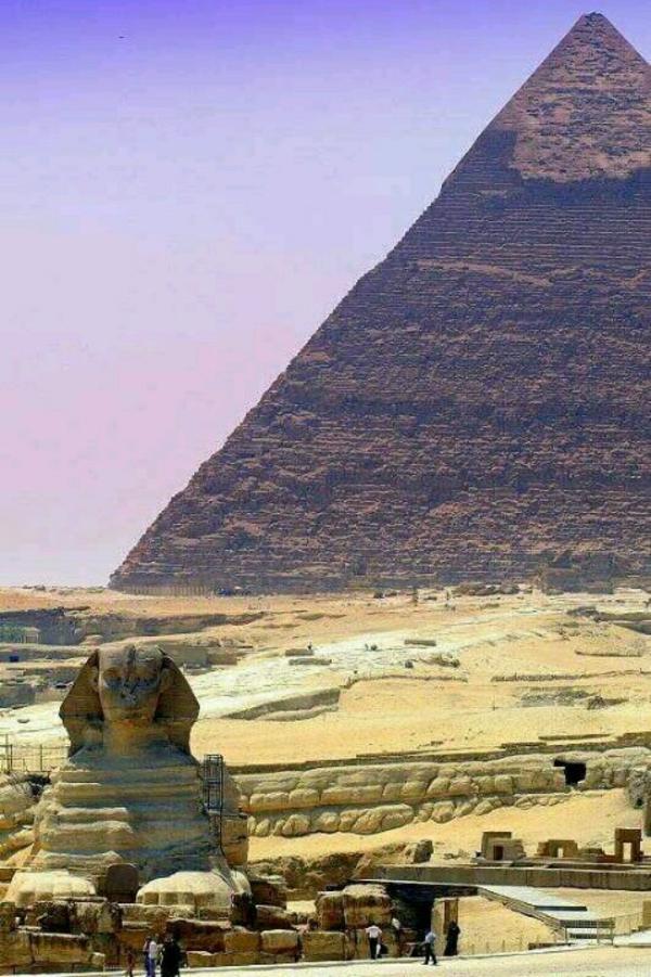 Reise lila wolken Ägypten urlaub pyramide