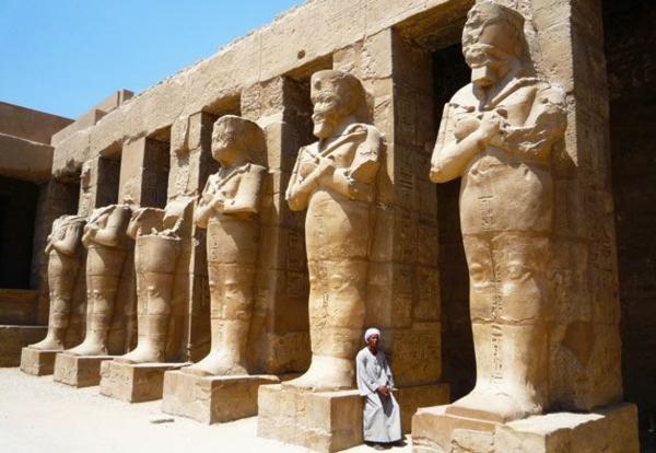Reise skulpturen Ägypten urlaub statuen