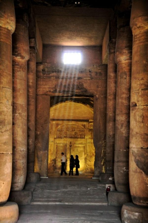 Reise tempel Ägypten urlaub innen