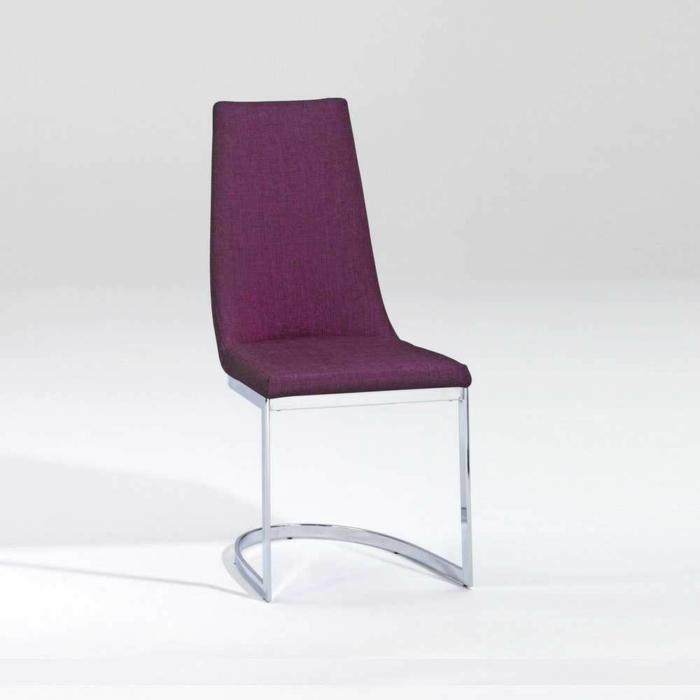 Schwingstuhl Birte in Violett freischwinger stühle