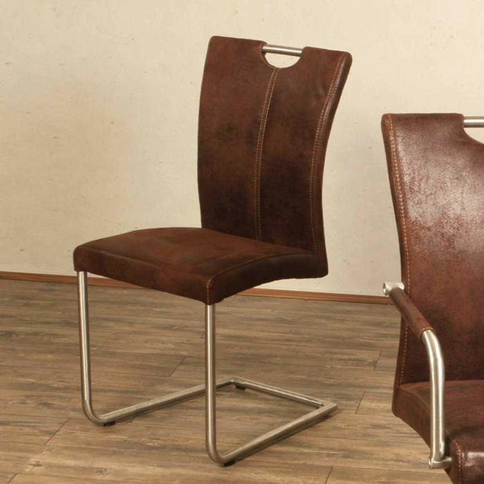Schwingstuhl Caica in Braun Freischwinger stühle Designer stühle
