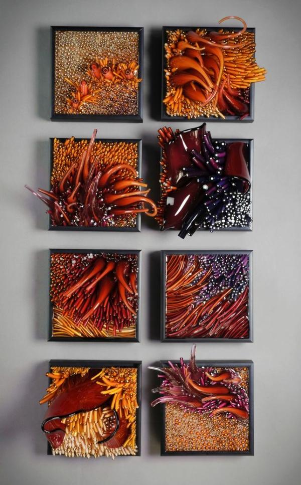 Shayna Leib Wanddekor Glas vielfalt natur