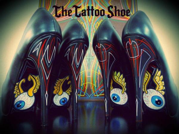Tattoo vorlagen Motive für sexy High Heels gruselig