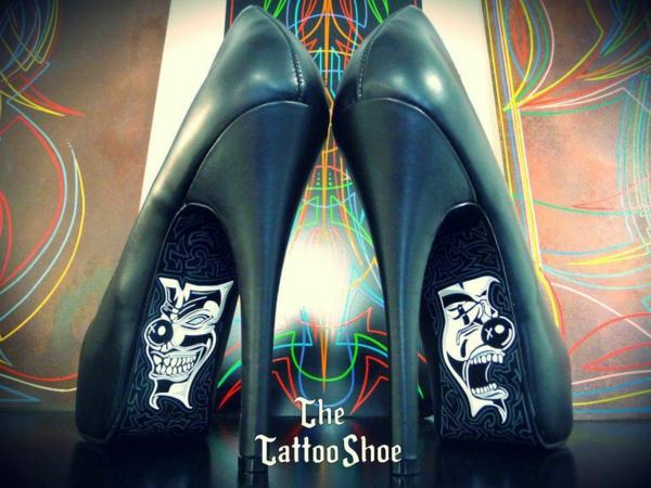 Tattoo motive und vorlagen für sexy High Heels masken
