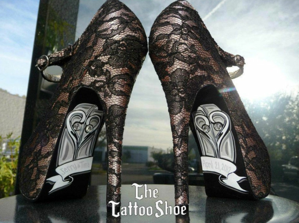 Tattoovorlagen und Motive für sexy High Heels spitze