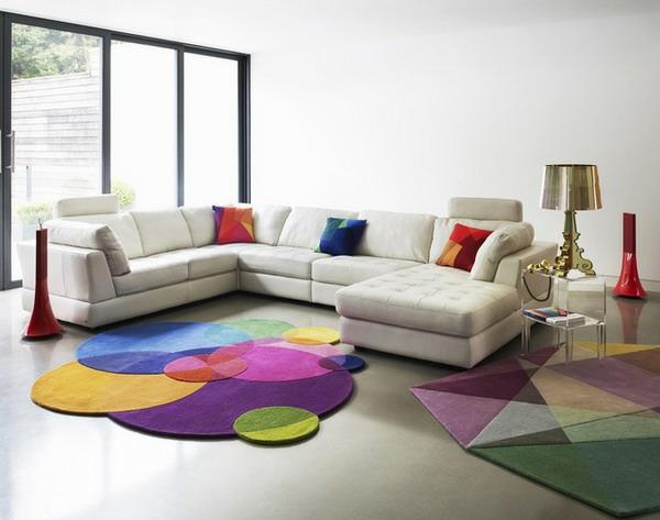 teppich teppiche online bunt kreise