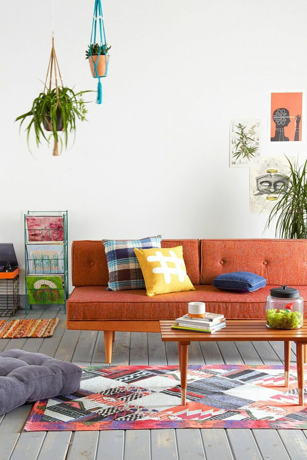 Traumteppich teppiche online sofa orange