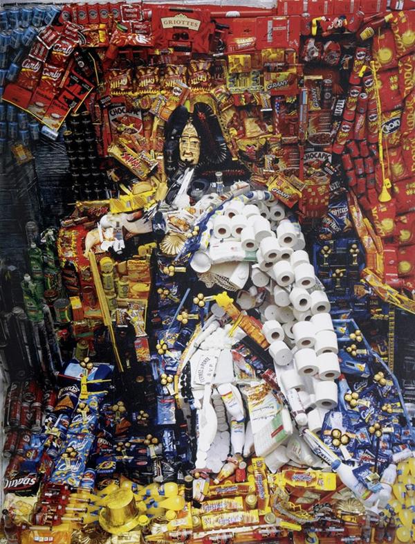 Umwerfende anamorphe Porträts von Bernard Pras altertümlich