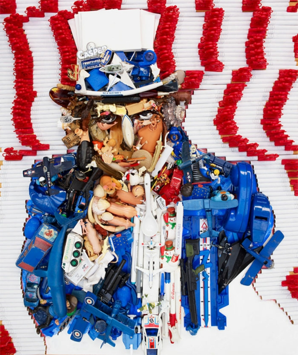 Porträts von Bernard Pras anamorph amerikanisch