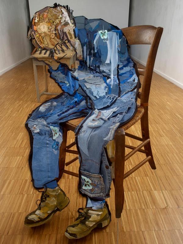 Umwerfende anamorphe Porträts von Bernard Pras jeans