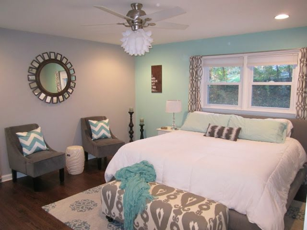Wandfarben kombinieren komplementärfarben schlafzimmer