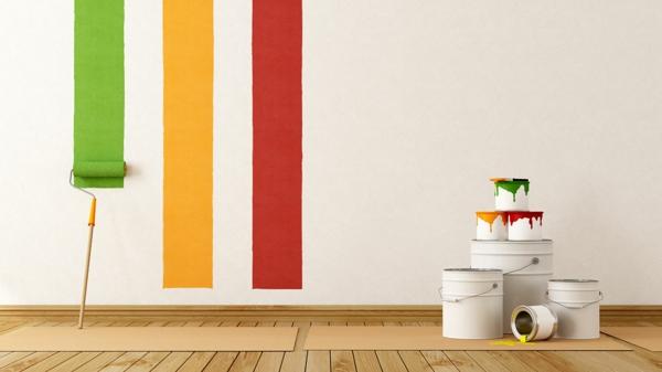Wandfarben interessant  kombinieren komplementärfarben streichen