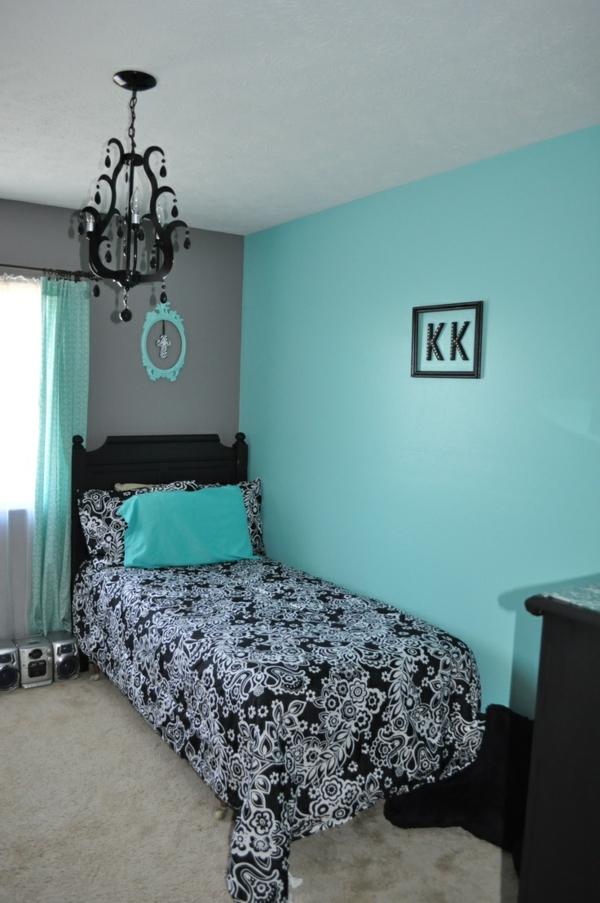 Wand komplementärfarben türkis schlafzimmer
