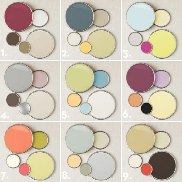 Wandfarben kombinieren komplementärfarben
