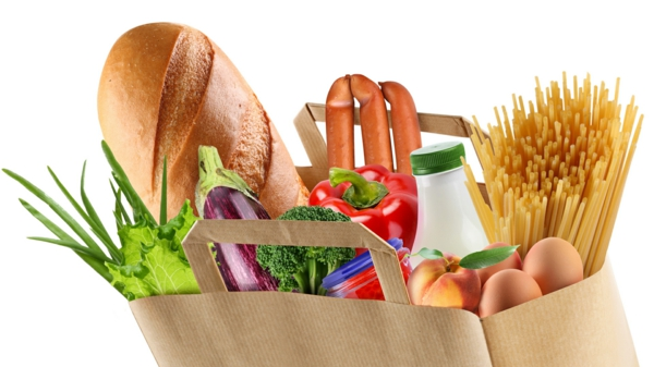 einkaufen lebensmittel ernährung tüte karton