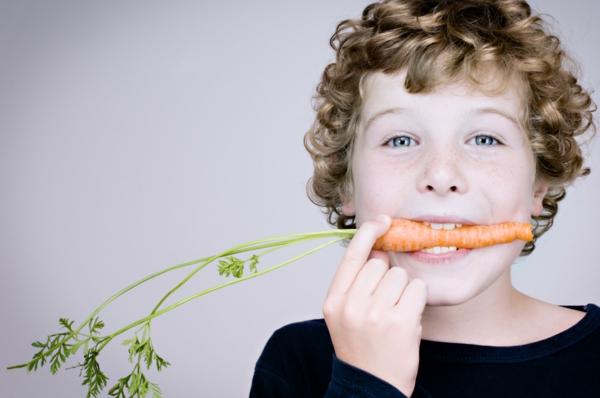 Was ist gesunde Ernährung kinder karotten