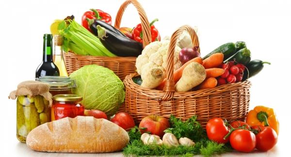 Was ist gesunde ernährung korb lebensmittel