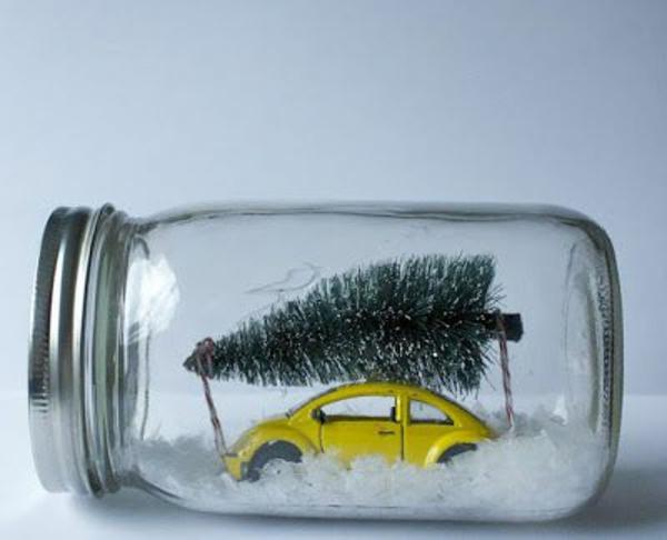 selber machen auto weihnachtsgeschenke weg tanne