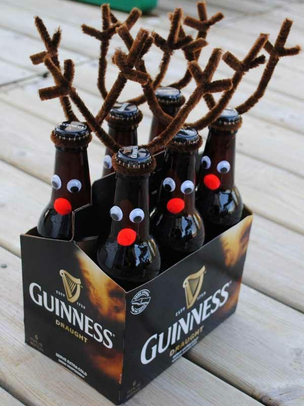 Weihnachtsgeschenke selber machen bierflaschen