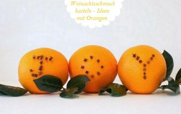 Weihnachtsschmuck basteln orangen mit nelken knospen joy