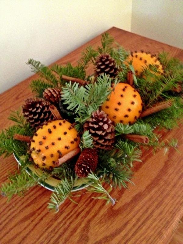 weihnachtsschmuck basteln kreative bastelideen mit orangen. Black Bedroom Furniture Sets. Home Design Ideas