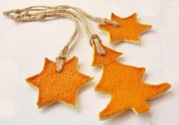 Weihnachtsschmuck basteln orangenschalen weihnachtsbaumschmuck