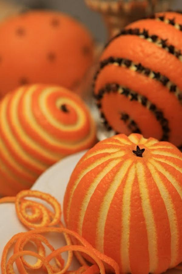Weihnachtsschmuck basteln orangenschalen weihnachtsdeko ideen
