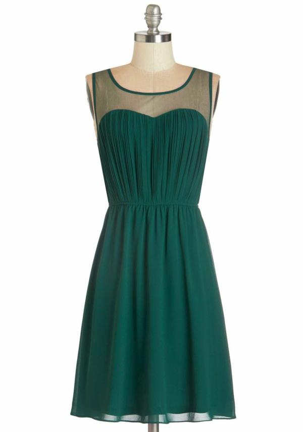 abendkleider kurz smaragdgrün