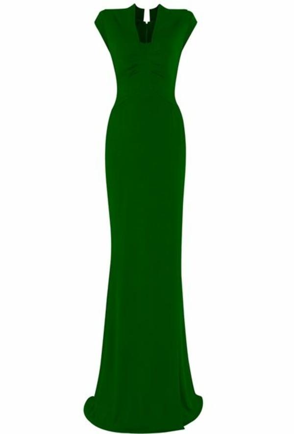 günstig dunkel abendkleider lang grün