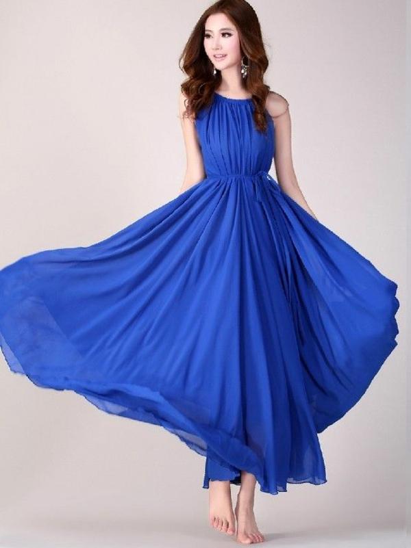 abendkleider stil lang günstig königsblau