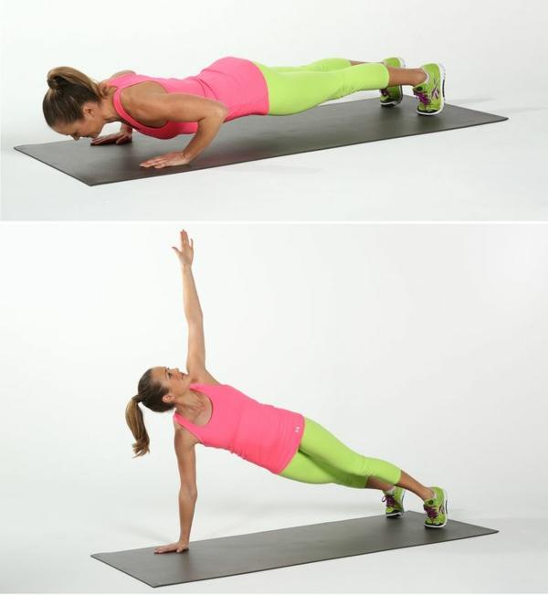 Gymnastikübungen abnehmen bauch dehnen