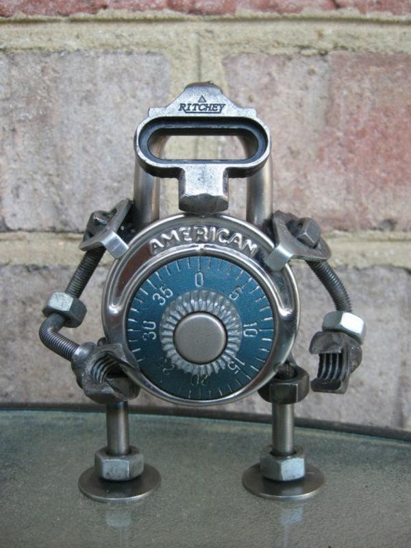 alt metall bild roboter