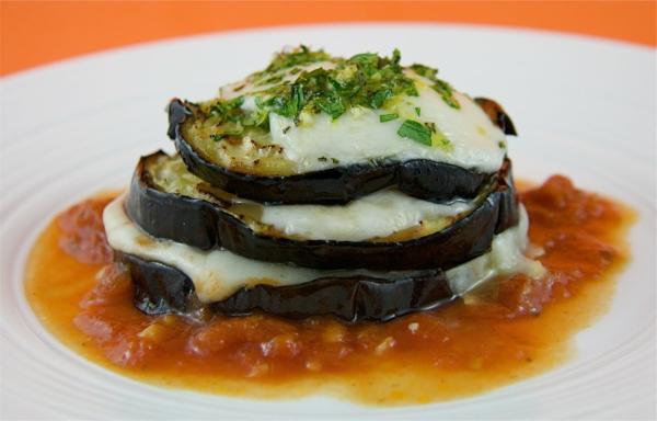 auberginen zubereiten gegrillt mozzarella