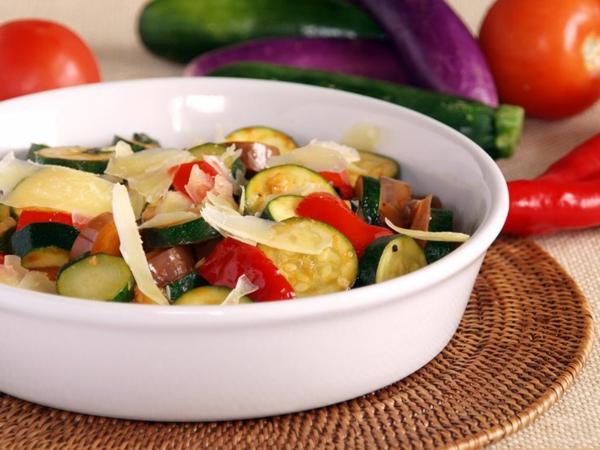 auberginen zubereiten gemüsenmix