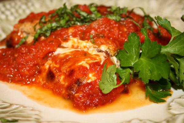 auberginen zubereiten parmesan petersilie tomaten