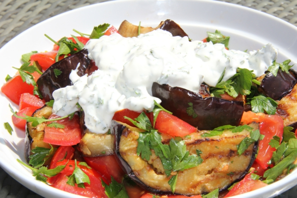 auberginen zubereiten salad joghurt
