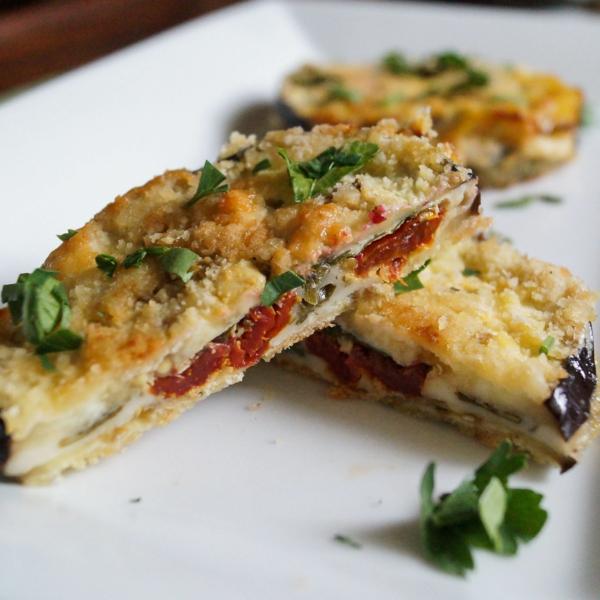auberginen zubereiten tomaten pertersilie sandwich