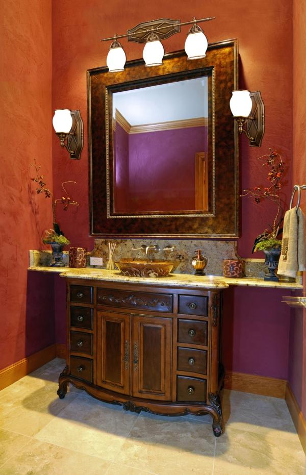 Badezimmerlampen Antiker Waschtisch Spiegel