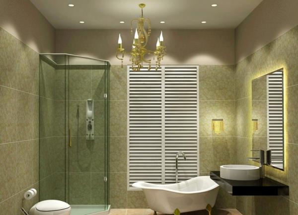 badezimmer lampen kronleuchter neobarock einbauleuchten