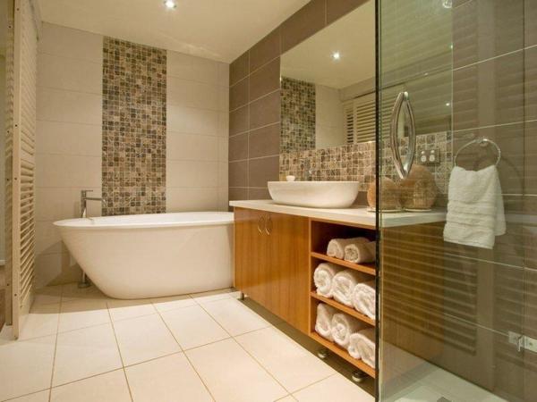 Badezimmerlampen Mosaikfliesen Badewanne Badbeleuchtung