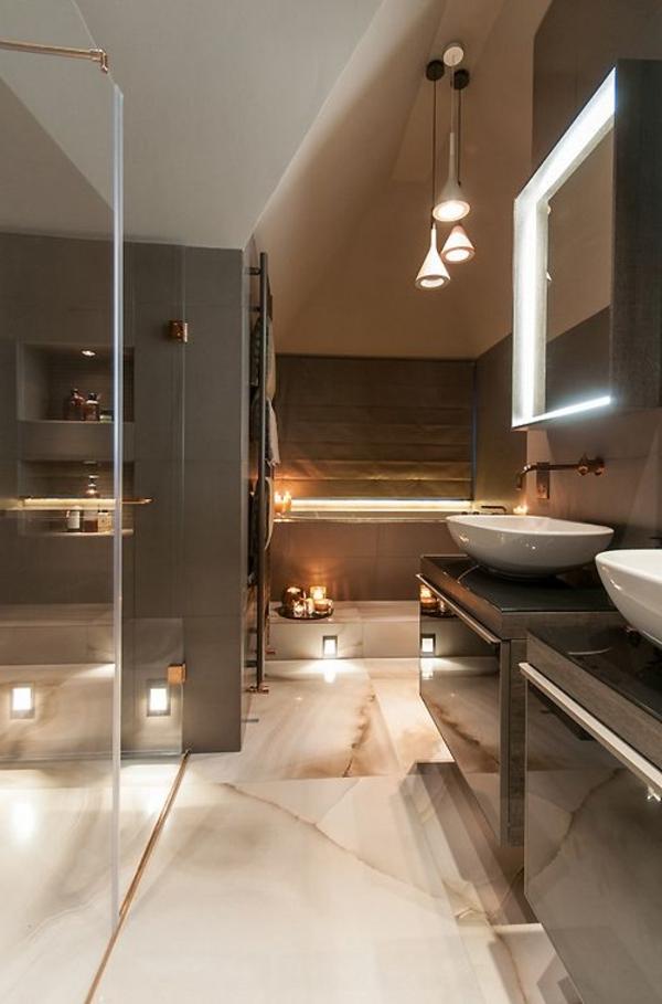 badezimmerlampen neonröhren hängeleuchten badbeleuchtung