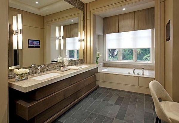 badezimmerlampen röhren am spiegel badewanne