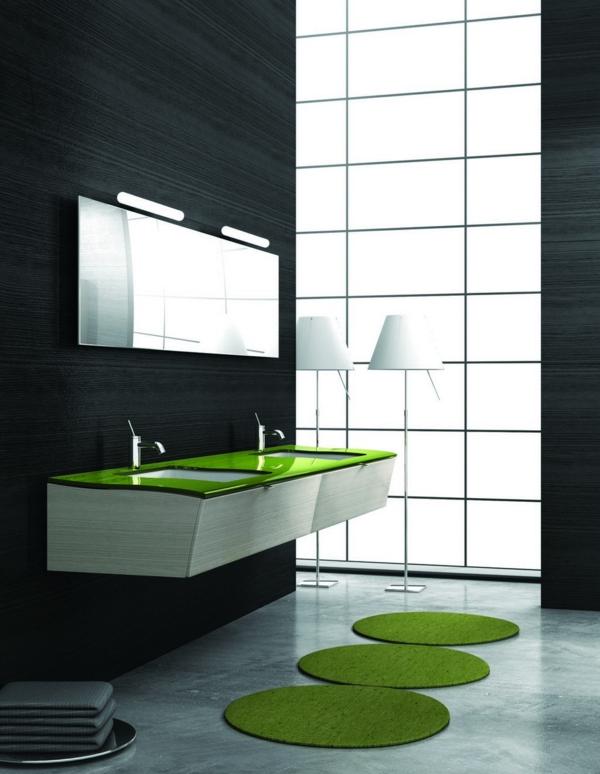 badezimmerleuchten badlampe grün matten teppiche
