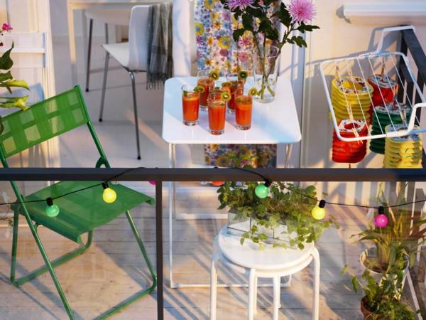 balkongestaltung ideen klappmöbel wäscheständer